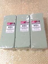 Set of 3 Green Wet Foam Floral Bricks Styrofoam Blocks for Floral Arrangements