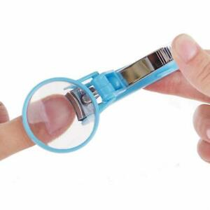2pc Elderly and Children Finger Toe Nail Clipper Cutter with Magnifying Glass