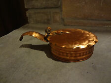 Gregorian Silent Butler Ash collector Ash Tray with lid solid copper very shiny!