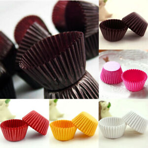 1000Pcs Solid Coffee Mini Paper Cake Cup Liners Baking Cupcake Cases
