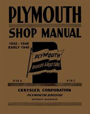 1942 1943 1944 1945 1946 1947 1948 1949 Plymouth Shop Service Repair Manual OEM