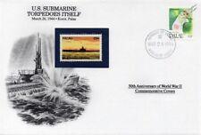 WWII 1944 USS TULLIBEE Submarine Torpedoes Itself Stamp Cover Palau/Danbury Mint