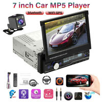 "1 Din 7"" Android 8.1 Regolabile bluetooth GPS WIFI MP5 Player Autoradio Camera"