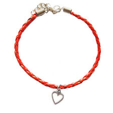 Red Open Heart Leather Anklet,Boho,Bohemian,Ankle Bracelet,Valentines Day