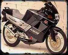 Cagiva 125 Freccia C12R 4 A4 Metal Sign Motorbike Vintage Aged