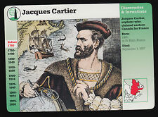 JACQUES CARTIER Explorer Quebec Canada 1995 GROLIER STORY OF AMERICA CARD #29-15