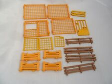 Playmobil Spare Parts Bundle of Fences - Yellow Brown for Zoo, Farm sets