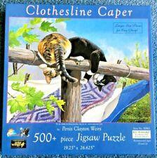 SunsOut Clothesline Caper 500+ Piece Jigsaw Puzzle