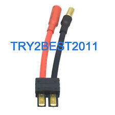 Traxxas TRX Male to 5.5mm Bullet Female Connector 5CM 12awg Wire Cable