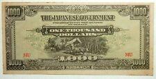 $1000 Malaya Japan Occupation 1942-45 note # 28
