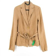 United Colors of Benetton Brown Striped Jacket Size IT 40 EU 34 UK 8 US 4