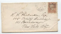 1860s Cambridge MA shield fancy cancel on #65 cover [y2338]