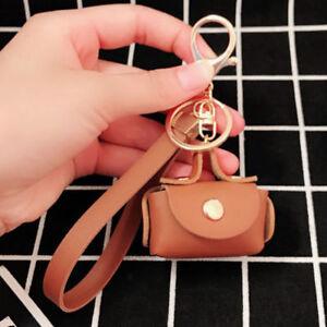 Women Key chain Bag Key ring Key Chain Mini Bag Handbag Charm Bag Accessory #
