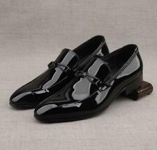 Men's Fashion Pointy Toe Patent leather Dress Shoe Gentleman Slip On Loafers N69