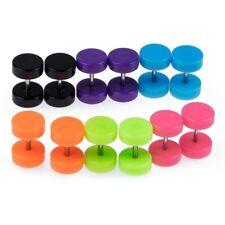 6 Pair Acrylic Fake Cheater Ear Stud Plug Earrings Piercing A9S7 SGH