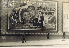 LE VOYAGEUR DE LA TOUSSAINT Aff. CINEMA PATHE REX Marseille SIMENON Photo 1943