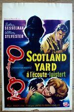 belgian poster SCOTLAND YARD HORT MIT, INFORMATION RECEIVED, WILLIAM SYLVESTER