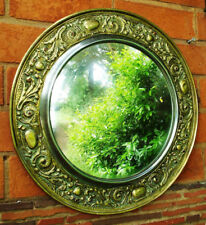 Antique Victorian Art Nouveau Mirror, brass, 19th century (xx)