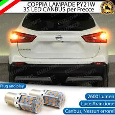 COPPIA LAMPADE PY21W CANBUS 35 LED FRECCE POSTERIORI NISSAN QASHQAI J11 NO ERROR