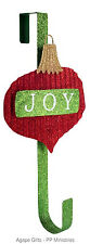 Melrose Wreath Metal Door Hanger - JOY Christmas Ornament Bulb #60746