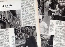 R6 Clipping-Ritaglio del 1974 Ristorante Alfio a Milano via Senato 31