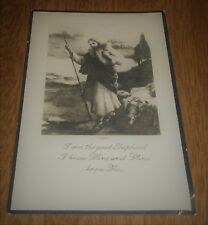 Vintage Funeral Prayer Card Jesus Christ Shepherd - Nicholas Benziger New York