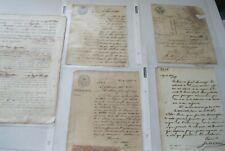 5 Rare Cuba Cuban Documents History - Slavery ~ Asian Workers - 1850's to 1870s