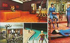 Gym, Women on Exercise Equipment, Pool: Hillhigh Lodge, Horseshoe Bend, AR.