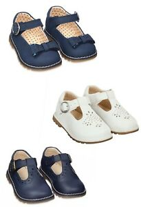 MOTHERCARE Girls Baby Shoes Mary Jane White First T Bar Spanish Traditional NEW