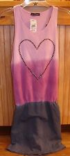 PAPER HART GIRLS SIZE XL (14) BEAUTIFUL SEQUIN HEART TANK DRESS NEW WITH TAGS
