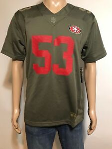 NIKE NFL 49'er #53 Bowman Salute to Service On Field Football Jersey Youth