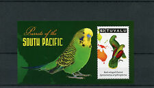 Tuvalu 2011 MNH Parrots of South Pacific 1v S/S Birds Red-winged Parrot Stamps