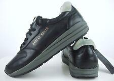 REPLAY Sneaker Low Happen Herren Schuhe Leder Schwarz Gr.44 NEU mit ETIKETT