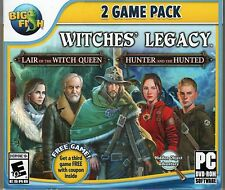Witches' Legacy LAIR OF THE WITCH QUEEN + HUNTER & THE HUNTED Hidden Object NEW