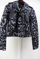 Diane von Furstenberg DVF Wool & Lambs Leather Theodora Moto Jacket Size 8