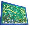 Vintage Jacques Rollet Sarong Beach Wrap Scarf Le Rhum Des Antilles Green 62x46