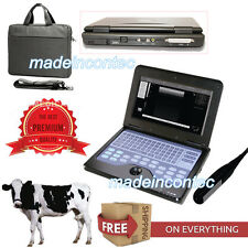 Vétérinaire Ordinateur portable Echographe,7.5MHz Probe Rectal B-échographie CE