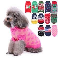 Winter Puppy Clothes Dog Christmas Pet Dog Warm Sweater Jumpsuit Clothes Outwear