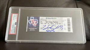 Ha-Seong Kim Signed 1st Career MLB Home Run Ticket Stub Psa/Dna Slabbed 4/10/21