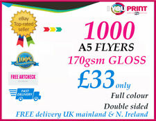1000 A5 Flyers Printed For £33 Only | 170 GSM Double Sided. Value for Money,
