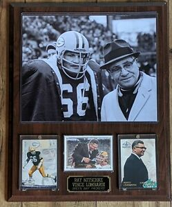 Vince Lombardi - Ray Nitschke Packers Collector Plaque w/8x10 Vintage Photo