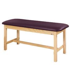 "Treatment Exam Table Flat top Wooden H-brace frame 30"" Purplegray"