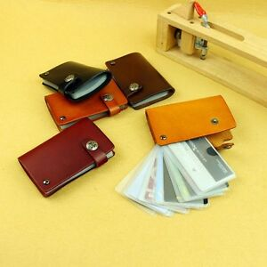 Handmade Genuine Leather Business Casual Credit Card ID Organizer Case Holder