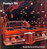 1970 Pontiac Sales Catalog 70 GTO LeMans Bonneville Grand Prix Catalina Tempest