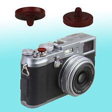 Dark Red Soft Shutter Release Button JJC Brass FUJIFILM X10 Leica M9 Rollei Sony