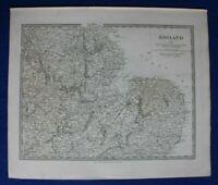 ENGLAND III. East-Central, Warwick to Norfolk, original antique map, SDUK, 1844
