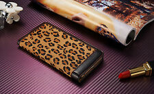 Luxury Leopard Magnetic Flip Cover Stand Wallet Leather Case For iPhone 6S Plus