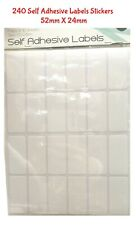 240 Self Adhesive Labels Stickers White Blank Sticker School Office Note Tag