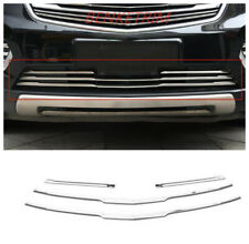 for Cadillac XT5 2016-2018 Stainless bottom Front Mesh Hood Bumper Grill Strip