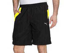 Mens PUMA Woven Longer Shorts Pants Sports Gym Summer Knee Length - Black XL
